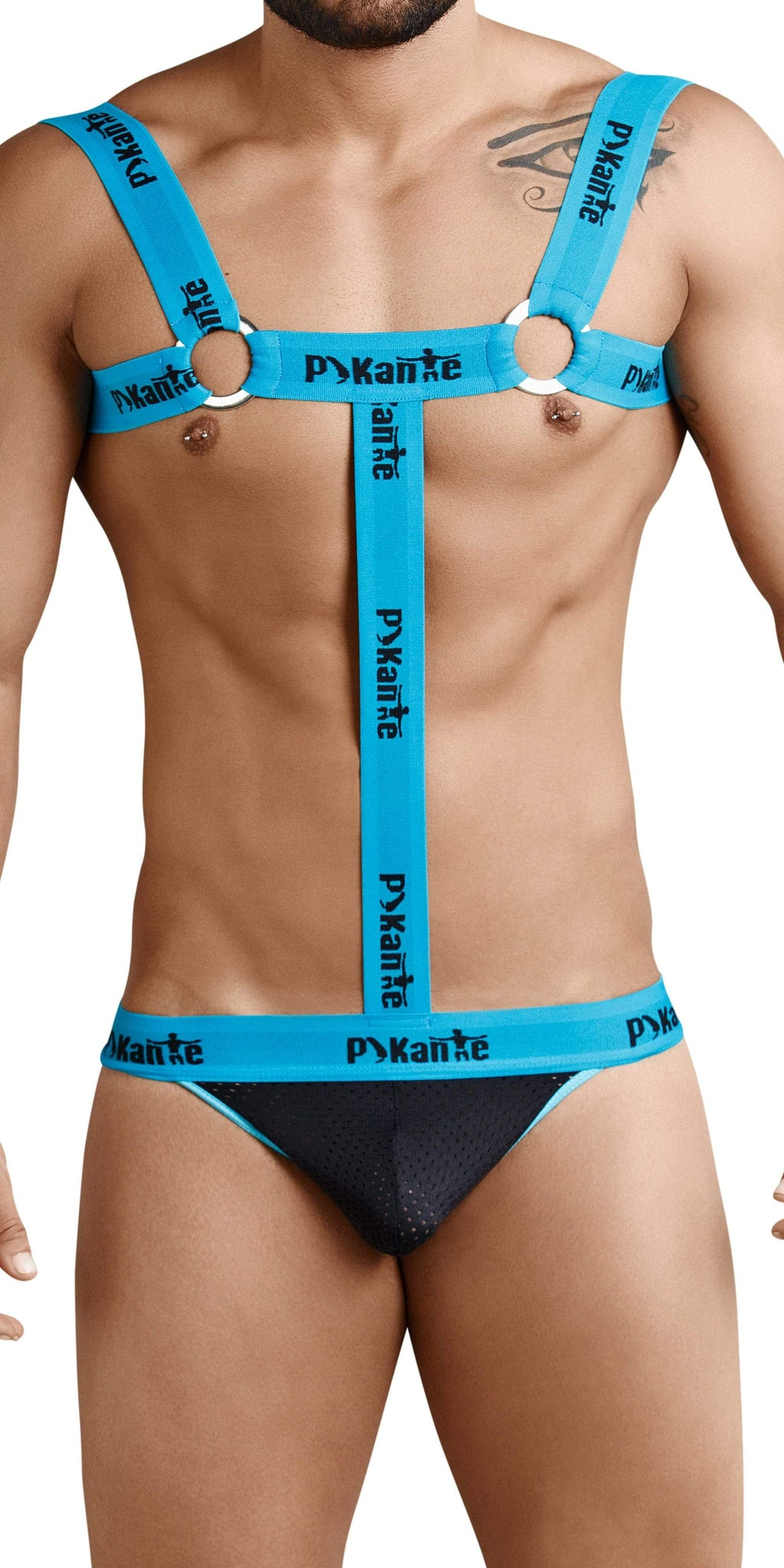 Pikante Attraction Harness In Blue