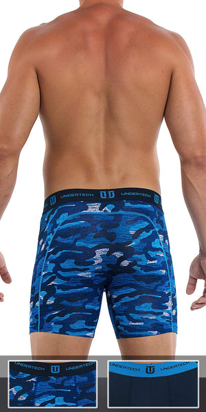 UNDERTECH 2-Pack Boxer Briefs In Camo-Navy