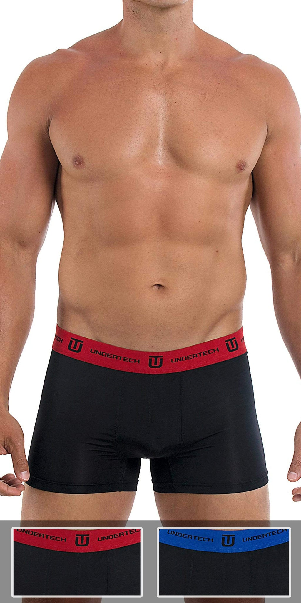 UNDERTECH 2-Pack Knit Trunks In Black-Black