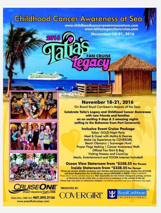 Talia's Legacy Fan Cruise 2016 Flyer