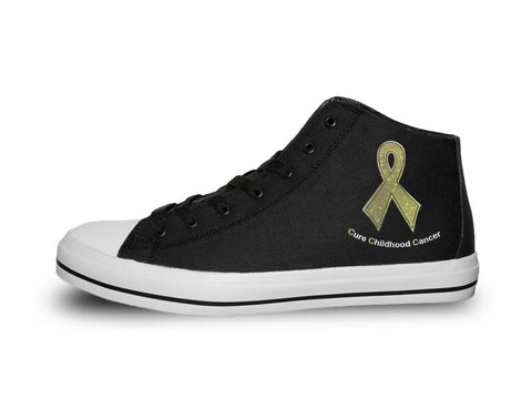 Cure Childhood Cancer Gold Ribbon Shoes