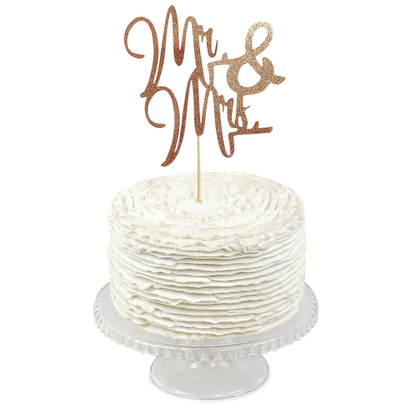 Rose Gold 'Mr & Mrs' Cake Topper, Cake & Cupcake Toppers, Jamboree