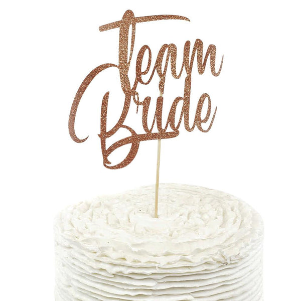 Rose Gold 'Team Bride' Cake Topper