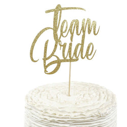 Gold 'Team Bride' Cake Topper, Cake & Cupcake Toppers, Jamboree