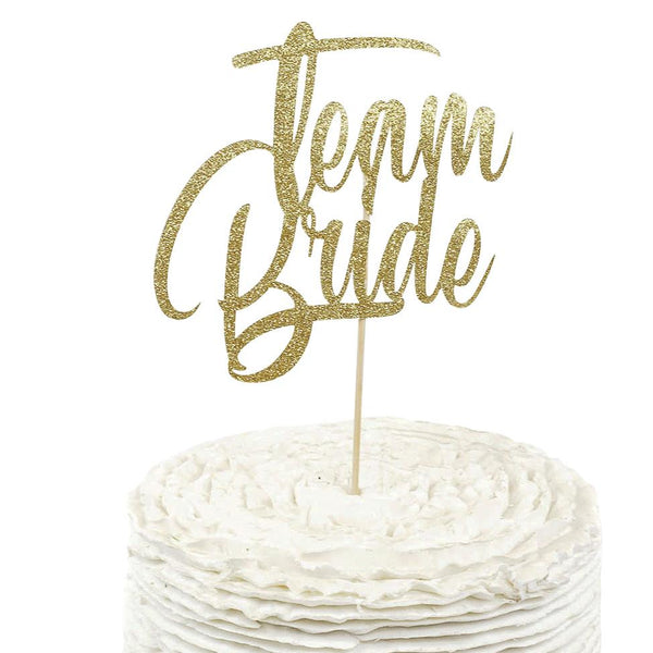Gold 'Team Bride' Cake Topper