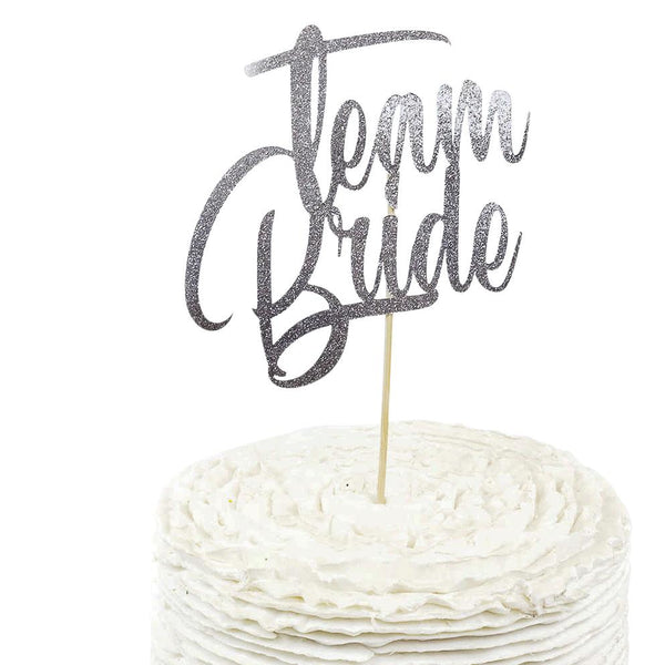 Silver 'Team Bride'  Cake Topper