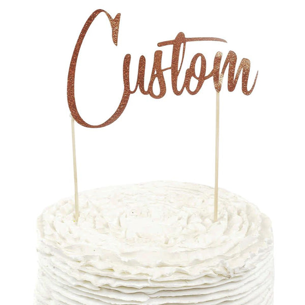 Rose Gold Custom Cake Topper, Cake & Cupcake Toppers, Jamboree