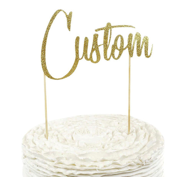 Gold Custom Cake Topper, Cake & Cupcake Toppers, Jamboree