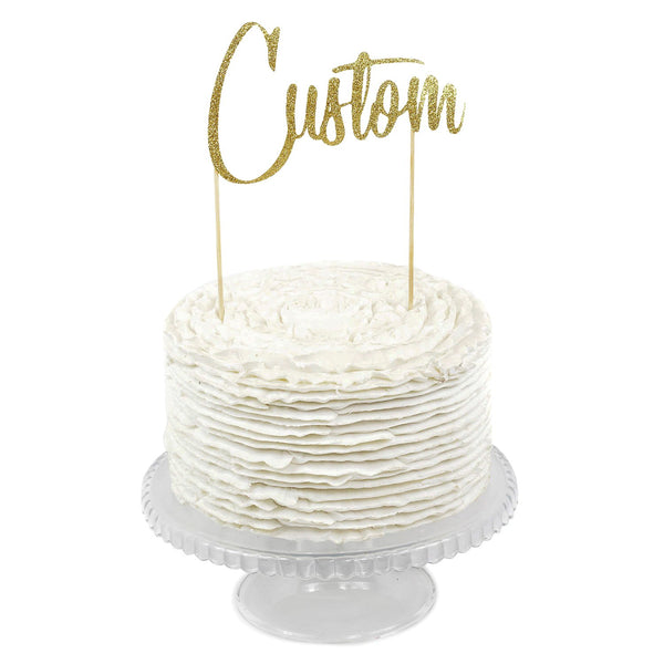 Gold Custom Cake Topper