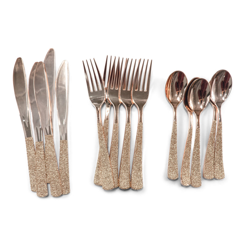 Rose Gold Glittered Rose Gold Fork