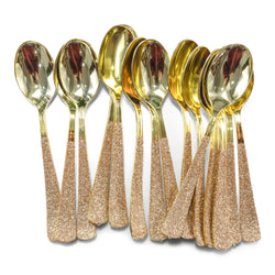 Rose Gold Glittered Gold Spoon, Tableware, Jamboree