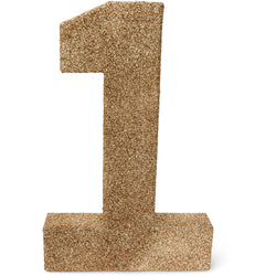 "8"" Rose Gold Glitter Number 1, Large Glitter Numbers, Jamboree"
