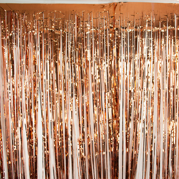 Rose Gold Fringe Backdrop