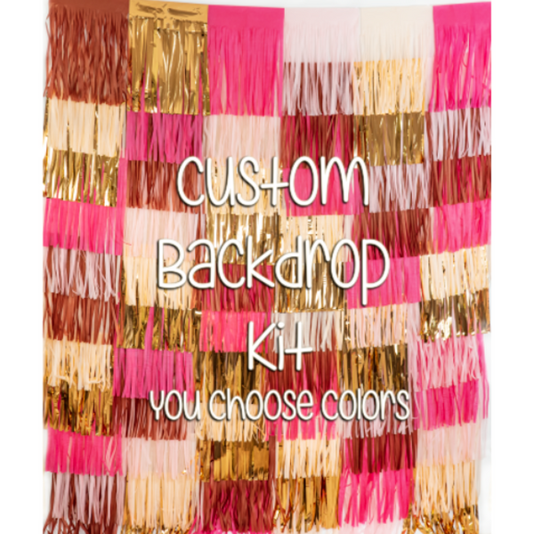 Custom Tassel Backdrop Kit