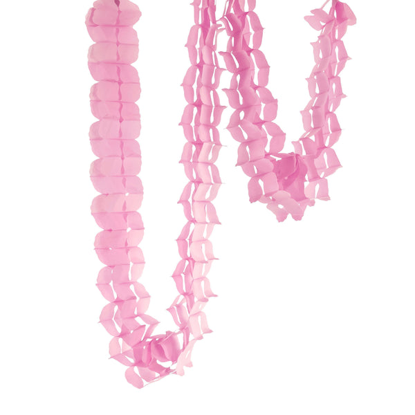 10ft Blush Pink Clover Accordion Streamer, Banners & Backdrops, Jamboree Party Box, Jamboree