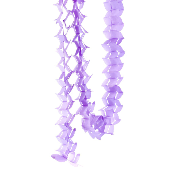 10ft Lavender Accordion Streamer, Banners & Backdrops, Jamboree
