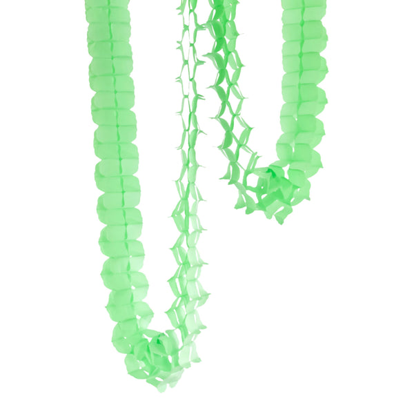 10ft Pistachio Mint Clover Accordion Streamer, Banners & Backdrops, Jamboree Party Box, Jamboree