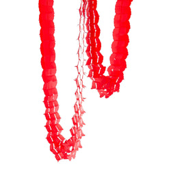 10ft Red Accordion Streamer, Banners & Backdrops, Jamboree Party Box, Jamboree