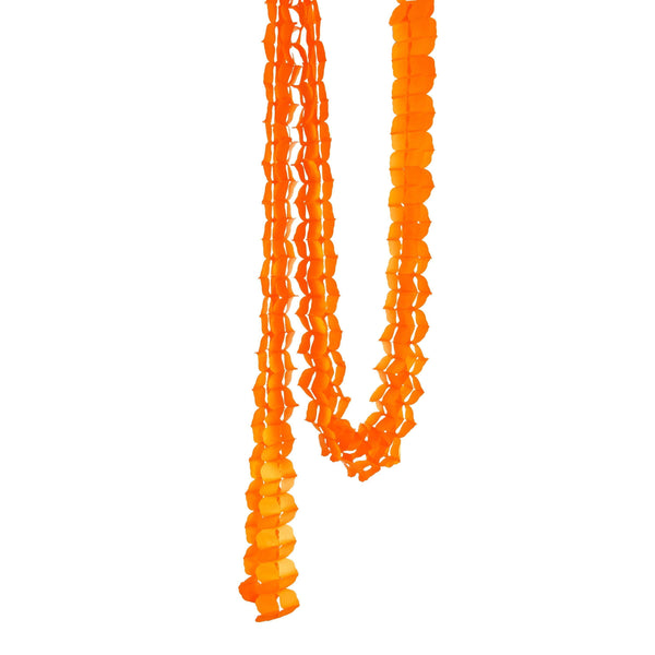 10ft Tangerine Clover Accordion Streamer, Banners & Backdrops, Jamboree Party Box, Jamboree