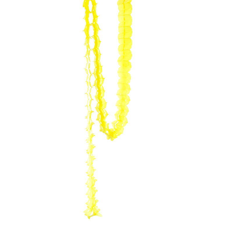 10ft Yellow Accordion Streamer, Banners & Backdrops, Jamboree Party Box, Jamboree