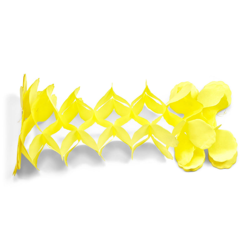10ft Yellow Accordion Streamer, Banners & Backdrops, Jamboree