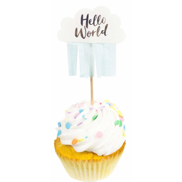 10pc Hello World Cupcake Topper, Cake & Cupcake Toppers, Jamboree Party Box, Jamboree