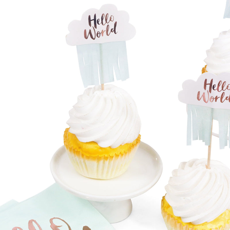 10pc Hello World Cupcake Toppers, Cake & Cupcake Toppers, Jamboree