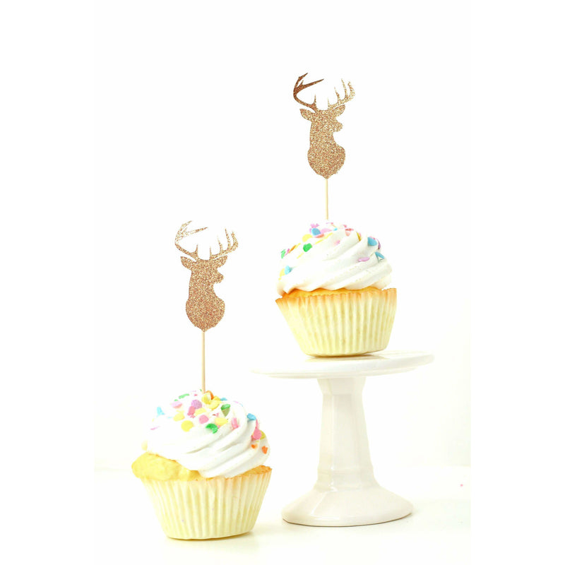 Buck Rose Gold Glitter Cupcake Toppers, Cake & Cupcake Toppers, Jamboree