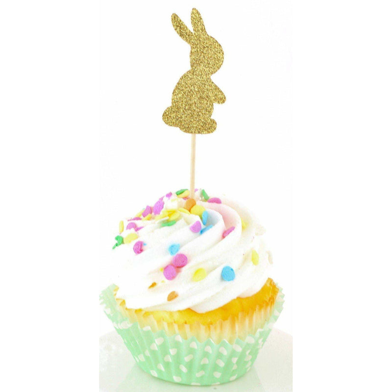 Bunny Gold Glitter Cupcake Toppers, Cake & Cupcake Toppers, Jamboree