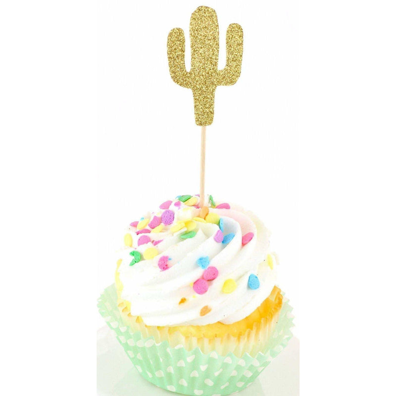 Cactus Gold Glitter Cupcake Toppers, Cake & Cupcake Toppers, Jamboree