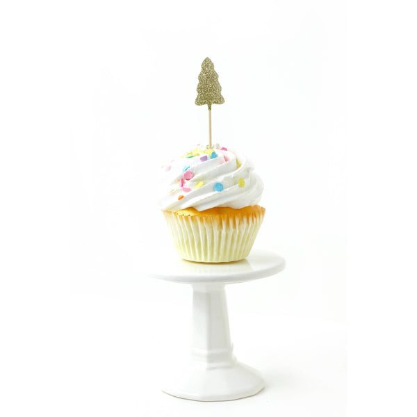Pine Tree Gold Glitter Cupcake Toppers, Cake & Cupcake Toppers, Jamboree
