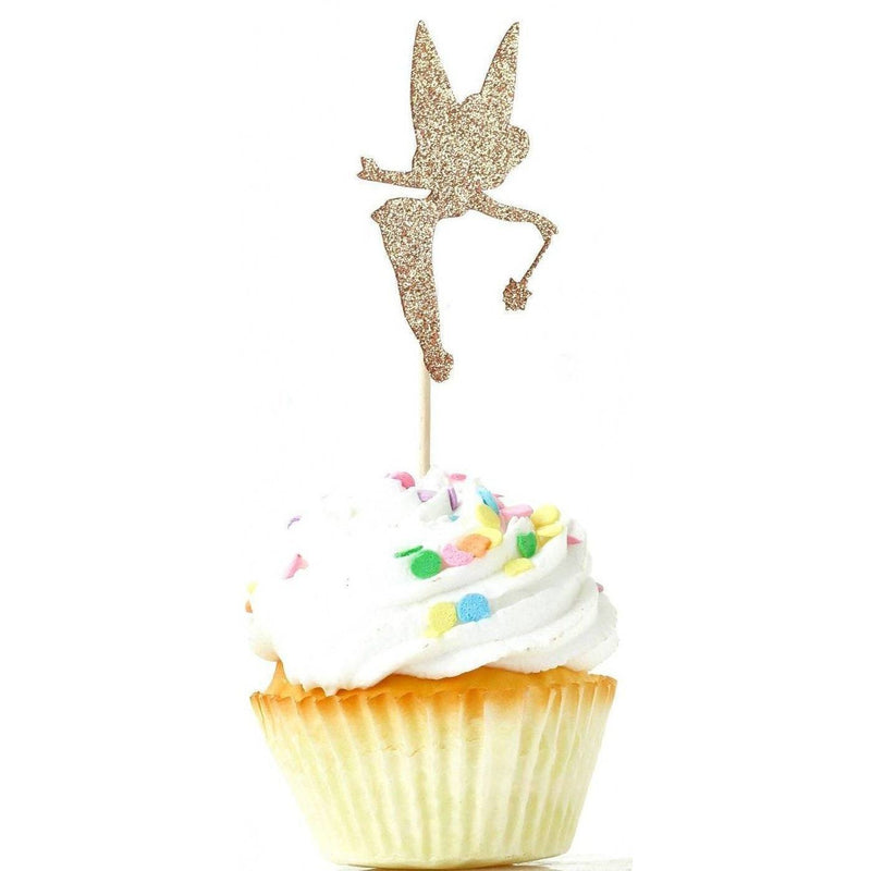 Tinkerbell Rose Gold Glitter Cupcake Toppers, Cake & Cupcake Toppers, Jamboree