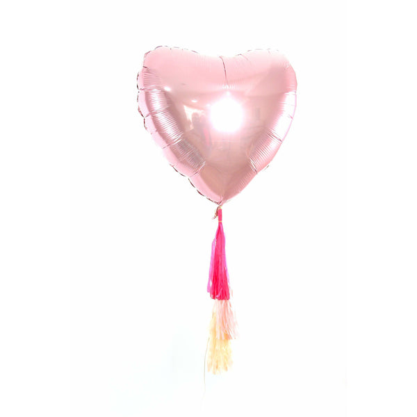 "36"" Blush Pink Heart Balloon, Decorative Balloons, Jamboree"