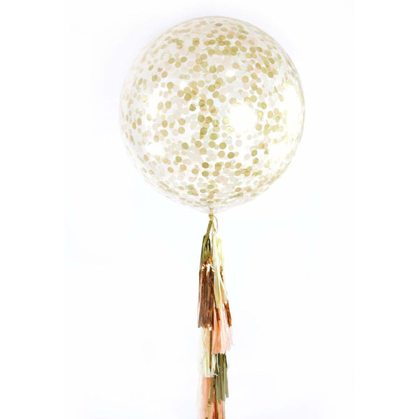 "36"" Champagne Kisses Confetti Balloon, Decorative Balloons, Jamboree"