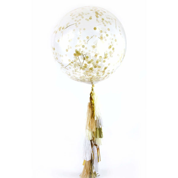"36"" Vanilla Frost Confetti Balloon, Decorative Balloons, Jamboree"