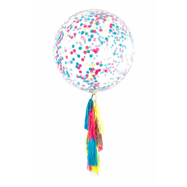 "36"" Confetti Cocktail Confetti Balloon, Decorative Balloons, Jamboree Party Box, Jamboree"