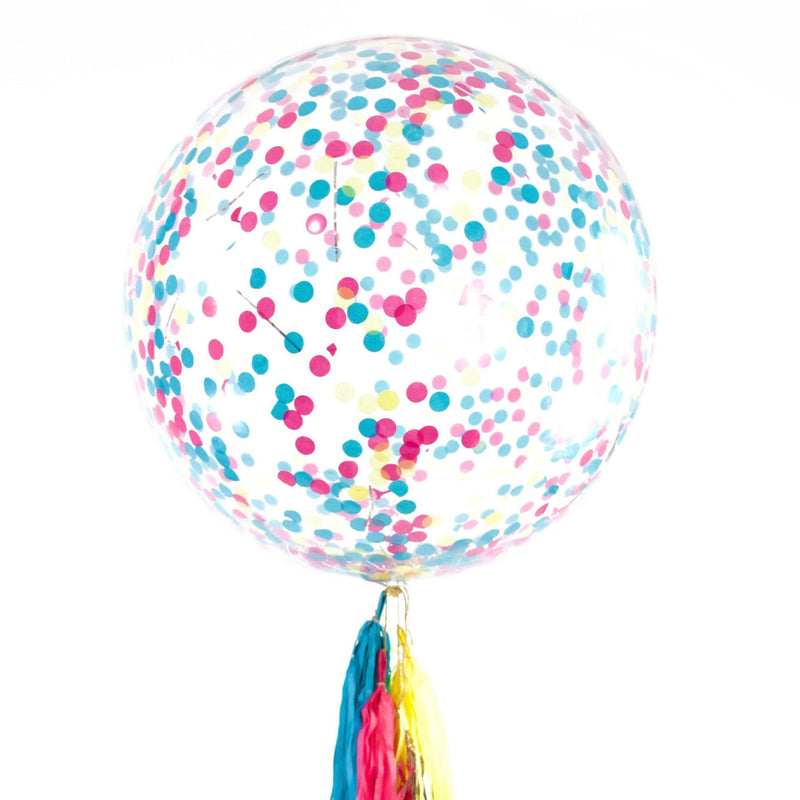 "36"" Confetti Cocktail Confetti Balloon, Decorative Balloons, Jamboree"