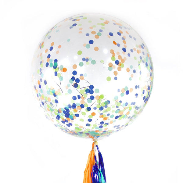 "36"" Dino Confetti Balloon, Decorative Balloons, Jamboree"