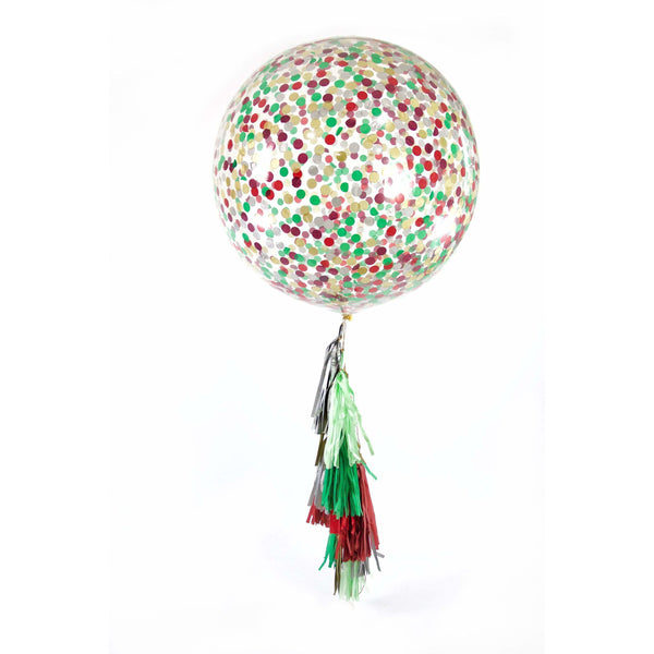 "36"" Enchanted Christmas Confetti Balloon, Decorative Balloons, Jamboree Party Box, Jamboree"