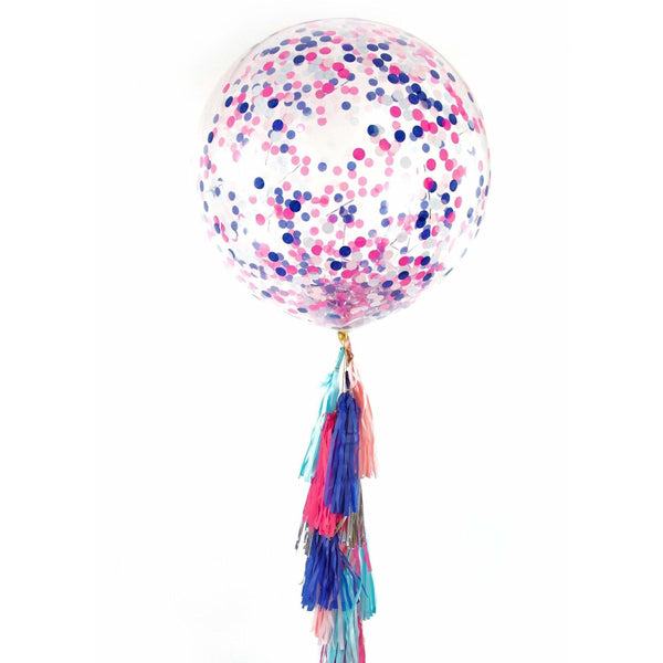 "36"" Gender Reveal Confetti Balloon, Decorative Balloons, Jamboree"