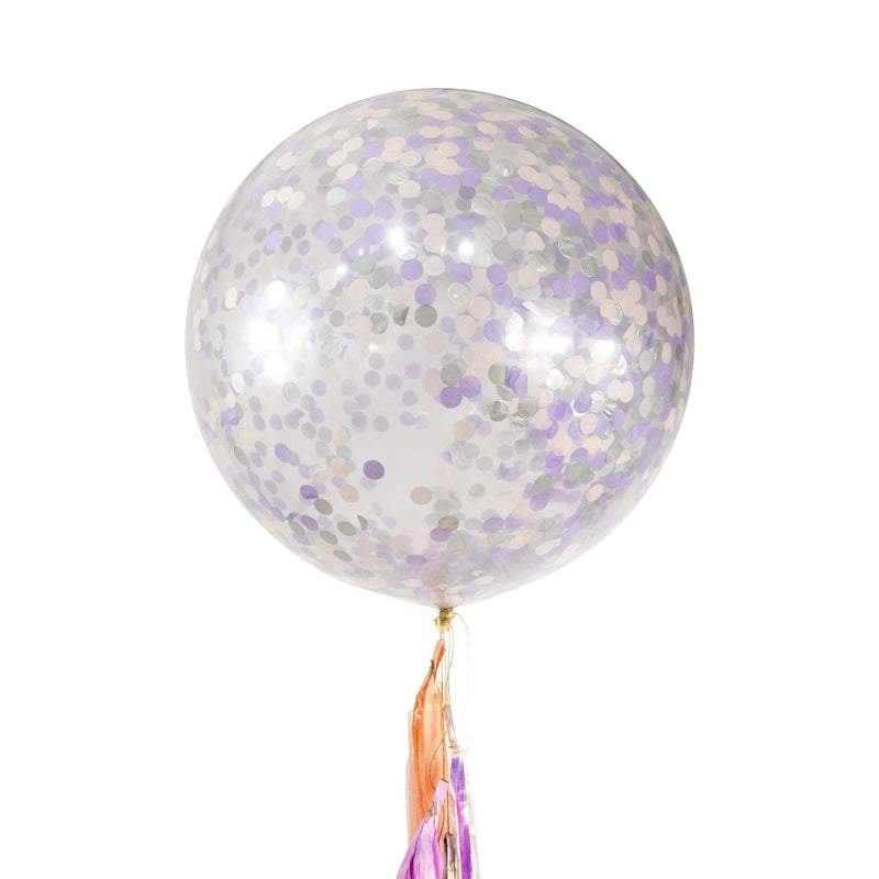 "36"" Lilac Dream Confetti Balloon, Decorative Balloons, Jamboree Party Box, Jamboree"