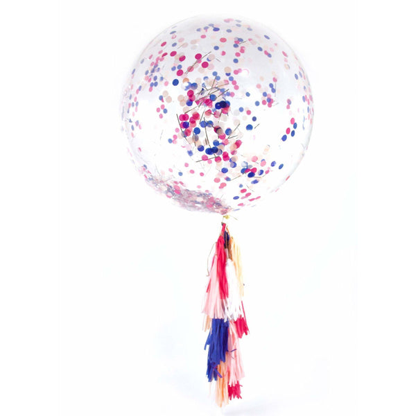 "36"" Macaroon Confetti Balloon, Decorative Balloons, Jamboree Party Box, Jamboree"