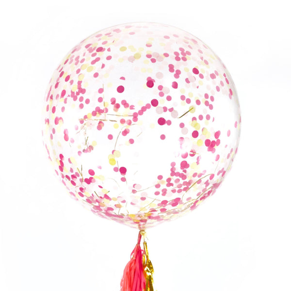 "36"" Mai Tai Confetti Balloon, Decorative Balloons, Jamboree Party Box, Jamboree"