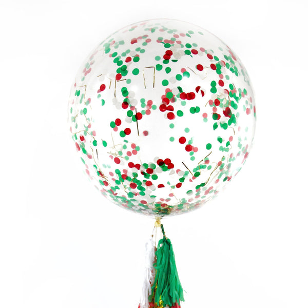"36"" Mistletoe Kisses Confetti Balloon, Decorative Balloons, Jamboree"