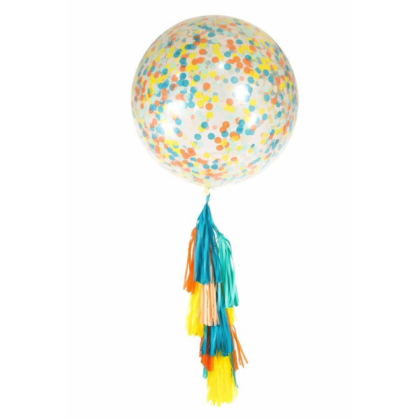 "36"" Retro Carousel Confetti Balloon, Decorative Balloons, Jamboree"