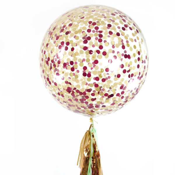 "36"" Rustic Christmas Confetti Balloon, Decorative Balloons, Jamboree"