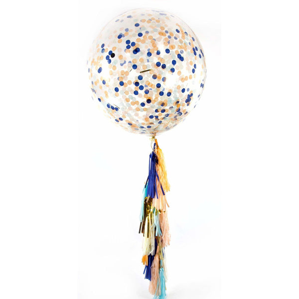 "36"" Sand N' Sea Confetti Balloon, Decorative Balloons, Jamboree Party Box, Jamboree"