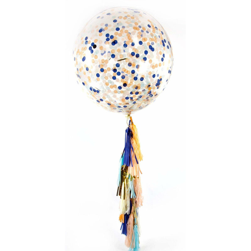 "36"" Sand N' Sea Confetti Balloon, Decorative Balloons, Jamboree"