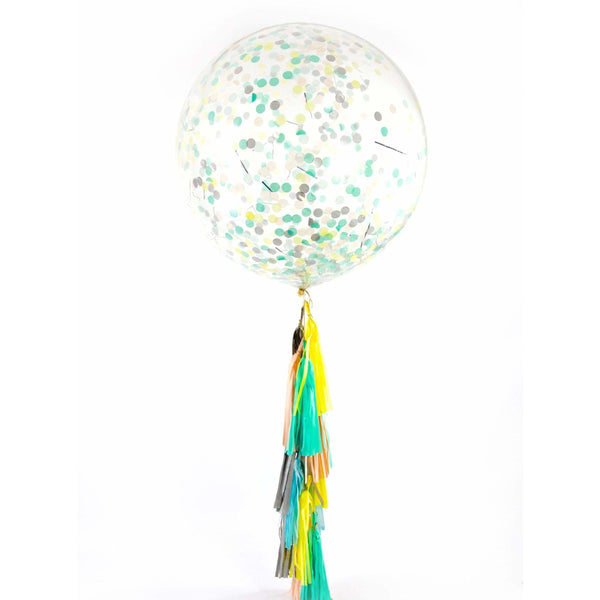 "36"" Sherbert Confetti Balloon, Decorative Balloons, Jamboree"