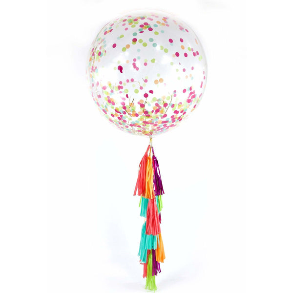 "36"" Tropical Tango Confetti Balloon, Decorative Balloons, Jamboree"